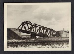 Warszawa 1944-45 Most Pod Warszawą (Okolice Włoch) Eugeniusz Haneman Fotografia [Vintage Print]