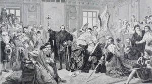 Jan MATEJKO (1838-1893) Jan STYFI (1839-1821), Zygmunt August w Lublinie