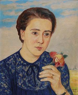 Wlastimil HOFMAN (1881-1970), Portret kobiety z różą, 1942