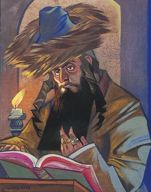 Zofia STRYJEŃSKA (1894-1976), Chasyd nad świętą księgą, ok. 1960