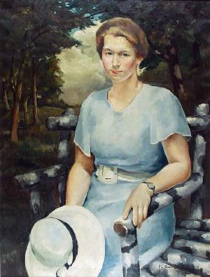 Mieczysław ORACKI-SERWIN (1912-1977), Portret kobiety, 1938