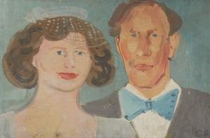 Edward DWURNIK (ur. 1943), Portret rodzinny, 1983