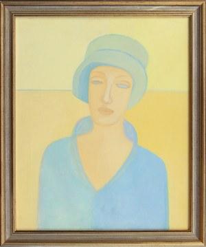 Magda SNARSKA, XX w., Przed wieczorem – portret Pani w niebieskim kapeluszu, z cyklu: Moja ulubiona pora dnia, 1996