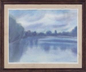 Teresa PUTOWSKA (ur. 1936), Chmury nad jeziorem, 1986