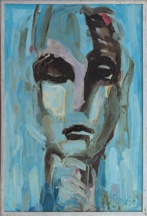 J. STANKIEWICZ, XX w., Portret w błękitach, 1990