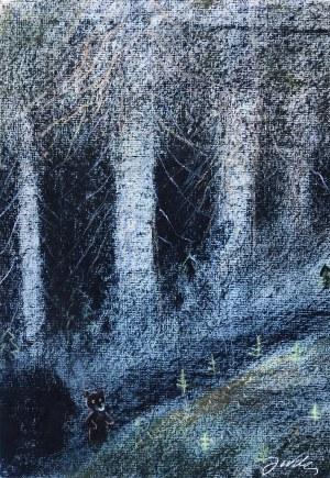 Józef Wilkoń ,Miś w lesie