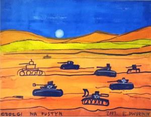 Edward Dwurnik, Czołgi na pustyni, 2001