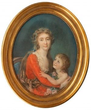 Anna Rajecka (przed 1762 Warszawa – 1832 Paryż), Portret damy z dzieckiem