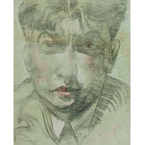 Stanisław Ignacy Witkiewicz (1885 Warszawa - 1939 Jeziory na Polesiu), Portret męski, 16 X 1931 r.