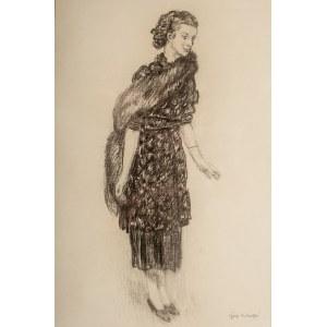 Józef Mehoffer (1869 Ropczyce - 1946 Wadowice), Portret panny Stanisławy