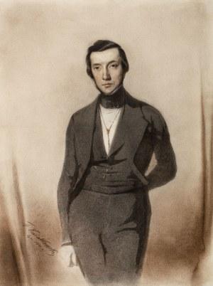 Teofil Kwiatkowski (1809 Pułtusk - 1891 Avallon), Portret mężczyzny, 1841 r.