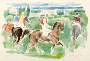 Eugeniusz Geppert (1890 Lwów - 1979 Wrocław), Na wyścigach