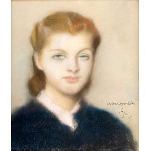 Alfons Karpiński (1875 Rozwadów - 1961 Kraków), Portret kobiety, 1940 r.
