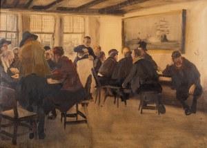 Wilhelm Schreuer (1866 Wesel - 1933 Düsseldorf]), W portowej knajpie
