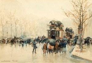 Emile Hoeterickx (1858 Bruksela – 1923 tamże), Paryż w deszczu, 1882 r.