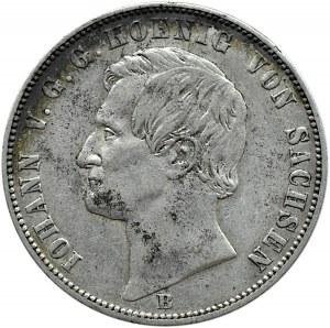 Niemcy, Saksonia, Johann, talar 1863 B, Hanower