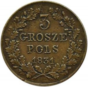 Powstanie Listopadowe, 3 grosze 1831 K.G., Warszawa