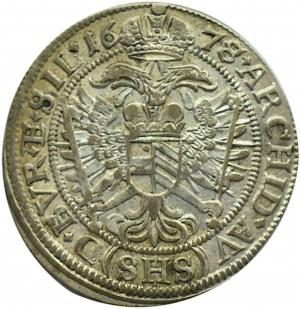 Śląsk, Leopold, 6 krajcarów 1677, Wrocław, UNC
