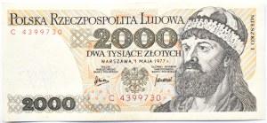 Polska, PRL, 2000 złotych 1977, seria C, Warszawa