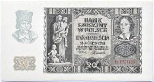 Polska, Generalna Gubernia, 20 złotych 1940, seria N, UNC