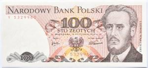 Polska, PRL, 100 złotych 1975, seria Y, Warszawa, UNC