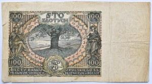Polska, II RP, 100 złotych 1934, seria CU, destrukt bez nadruku głównego