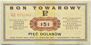 Polska, PeWeX, 5 dolarów 1969, seria GE