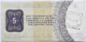 Polska, PeWeX, 5 dolarów 1979, seria HE