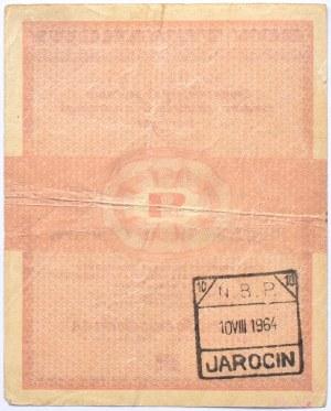 Polska, PeWeX, 50 centów 1960, seria Bc, bez klauzuli na rewersie, rzadkie