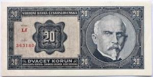 Czechosłowacja, 20 koron 1926, seria Lf, UNC