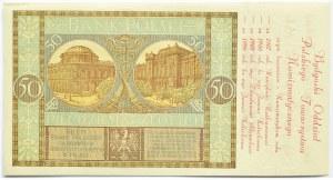 Polska, II RP, 50 złotych 1929, seria EF, okolicznościowy nadruk, Numizmatyk Bydgoski