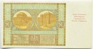 Polska, II RP, 50 złotych 1929, seria EK., okolicznościowy nadruk, Numizmatyk Bydgoski