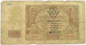 Polska, Generalna Gubernia, 10 złotych 1940, seria H, NADRUK POWSTAŃCZY