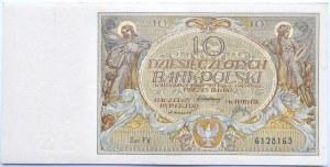 Polska, II RP, 10 złotych 1929, seria FV, Warszawa, UNC