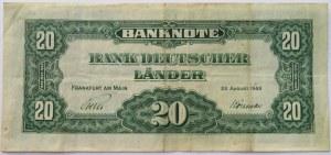 Niemcy, RFN, 20 marek 1949, seria P, rzadkie
