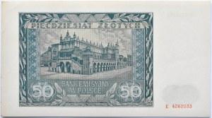 Polska, Generalna Gubernia, 50 złotych 1941, seria E, UNC/UNC-