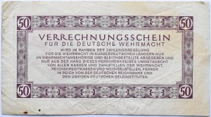 Niemcy, Wermacht, bony 50 marek 1944, najwyższy nominał