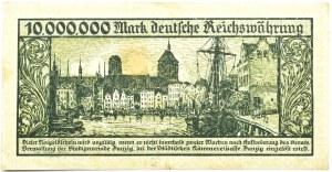 Wolne Miasto Gdańsk, 10 milionów marek 1923, bez oznaczenia serii