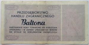 Polska, PRL, Baltona, bon 1 cent 1973, seria A
