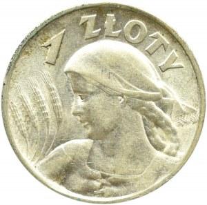 Polska, II RP, Kłosy, 1 złoty 1925, Warszawa, piękne!