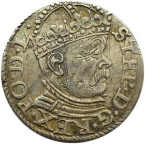 Stefan Batory, trojak 1585, Ryga, ładny