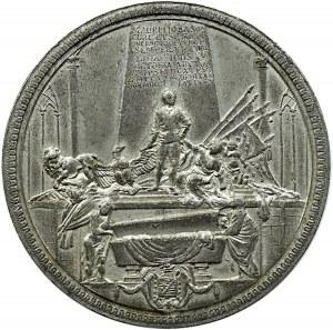 Polska, Kurlandia, medal Maurycy Saski (nieślubny syn Augusta III), cynk