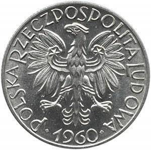 Polska, PRL, Rybak, 5 złotych 1960, Warszawa, UNC