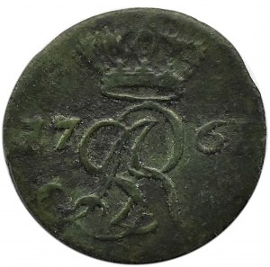 Stanisław A. Poniatowski, szeląg 1767 G, Kraków