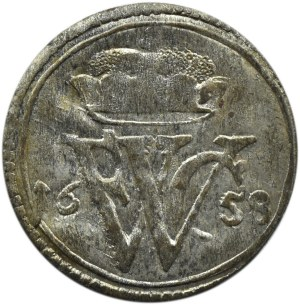 Niemcy, Prusy, Fryderyk Wilhelm, solid 1658, piękny