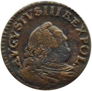 August III Sas, grosz miedziany 1755, Gubin, mały krążek