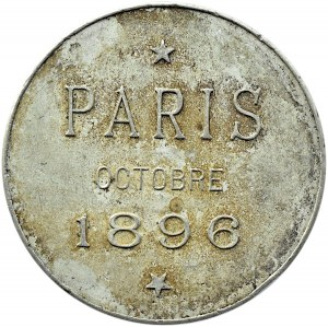 Rosja, Mikołaj II, medal upamiętniający wizytę pary Carskiej w Paryżu 1896