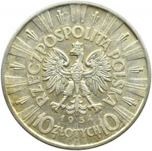 Polska, II RP, Józef Piłsudski 10 złotych 1934, Warszawa