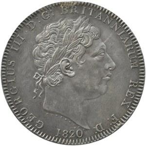 Wielka Brytania, Jerzy III, korona 1820, Londyn, piękna