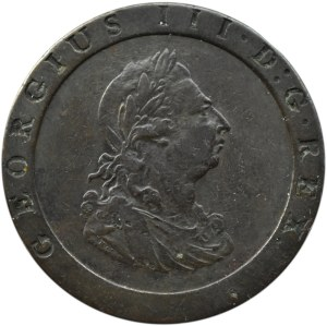 Wielka Brytania, Jerzy III, pens 1797, Birmingham